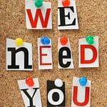 Events need volunteers!
