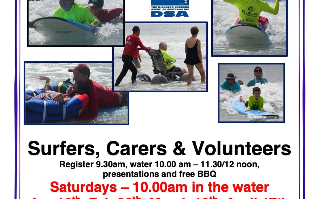 Let's Go Surfing – Disabled Surfers Association Great Southern (DSAGS)